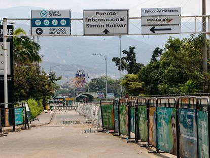 Vista del puente internacional Simón Bolívar, el principal paso fronterizo entre Colombia y Venezuela, el pasado lunes.