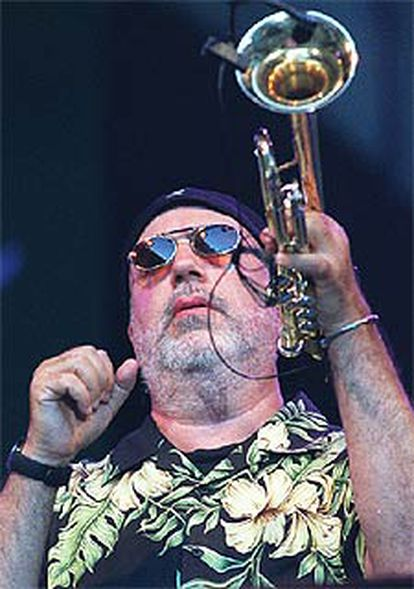 Randy Brecker, durante el último concierto del festival.