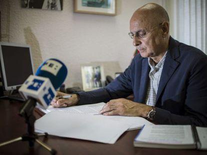 El secretario de Organización del PSE, Rodolfo Ares,durante la entrevista con Efe.