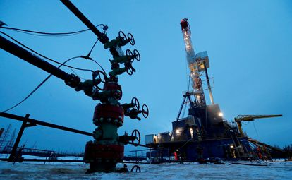 An oil well in Irkutsk (Russia).