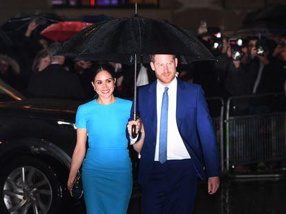 Enrique de Inglaterra y Meghan Markel, el 5 de marzo en unos premios en Londres.