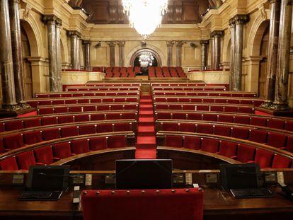 El hemiciclo del Parlament de Cataluña.