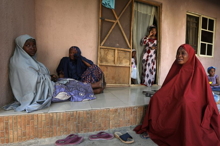 Relatives of a student, who was abducted by gunmen, reacts in Kankara, in northwestern Katsina state, Nigeria December 14, 2020. REUTERS/Afolabi Sotunde