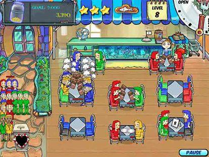 Imagen de <i>Dinner dash,</i> título para usuarios de PC.