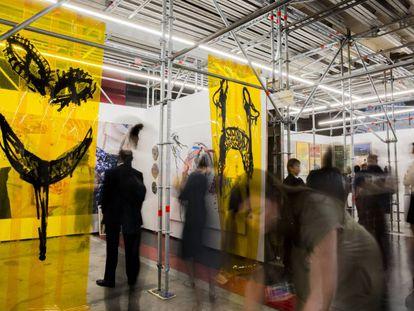 Stand de la feria de arte Material en Ciudad de México