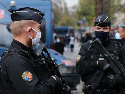 Agentes de seguridad de Francia, en una imagen de archivo.