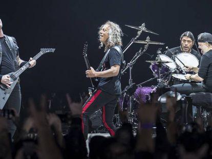 Metallica durante un concierto en Barcelona en febrero de 2018
