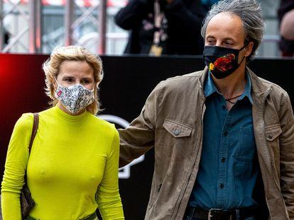 Narcis Rebollo y Eugenia Martínez de Irujo el 24 de septiembre en el Festival de San Sebastián.