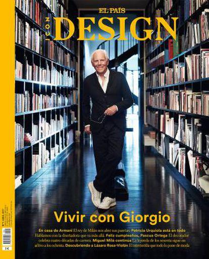 La portada del nuevo ICON DESIGN con Giorgio Armani.