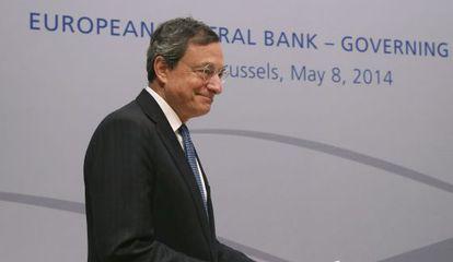Mario Draghi este jueves en Bruselas.