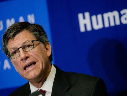 El director para las Américas de Human Rights Watch (HRW), José Miguel Vivanco durante la presentación del informe.