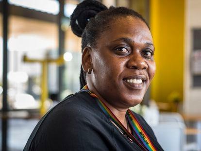 Pumeza Runeyi, promotora de salud de MSF y activista contra el VIH de Khayelitsa, Ciudad del Cabo, Sudáfrica.