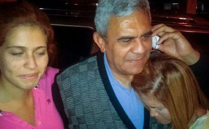Raúl Baduel tras su liberación.
