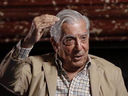 Mario Vargas Llosa durante una presentación en Madrid.