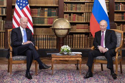 Putin y Biden en la Villa La Grange, este miércoles en Ginebra.