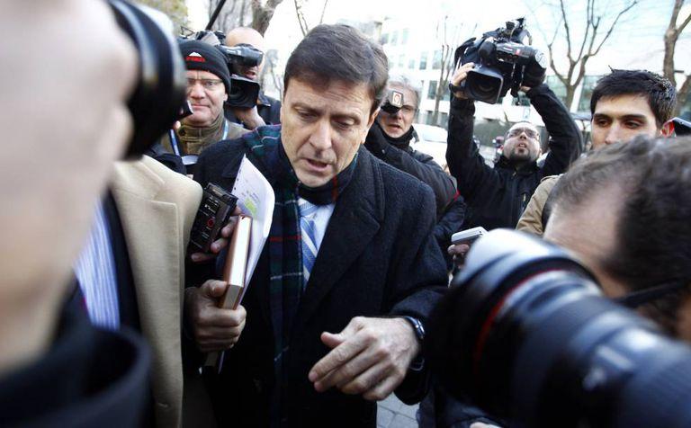 Eufemiano Fuentes, entrando al juzgado en 2013.