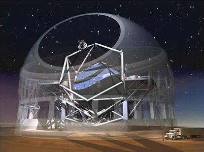 Ilustración del observatorio de 30 metros de diámetro que EEUU planea junto con Canadá y Japón