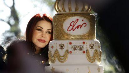 Priscilla Presley, en la proclamación del 8 de enero como día oficial de Elvis.