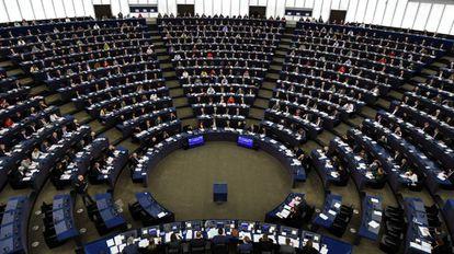 Pleno del Parlamento Europeo en Estrasburgo (Francia).