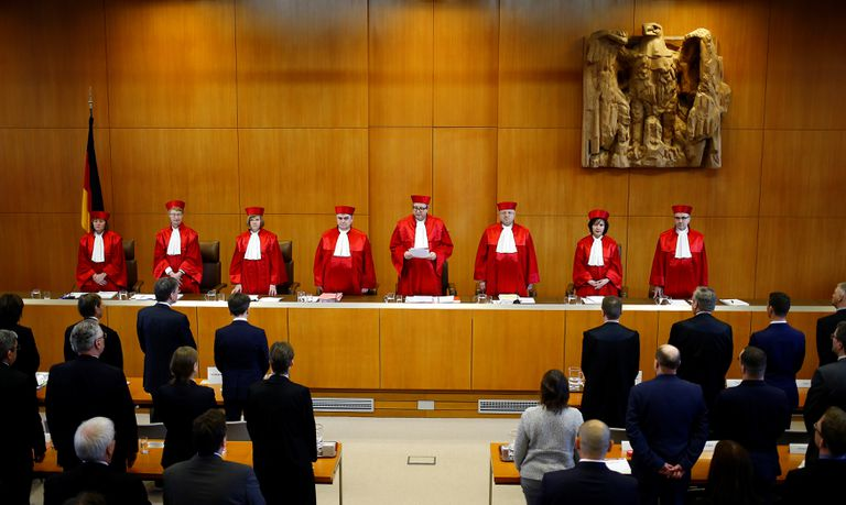 Sesión del Tribunal Constitucional alemán.