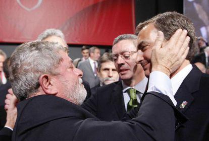 El expresidente de Brasil, Lula da Silva, con Zapatero.