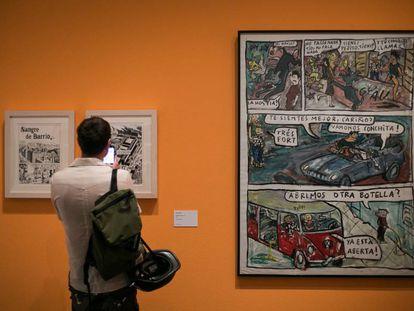 Exposicion 'El Víbora, comix contracultural en el Museu Nacional d' Art de Catalunya (MNAC).
