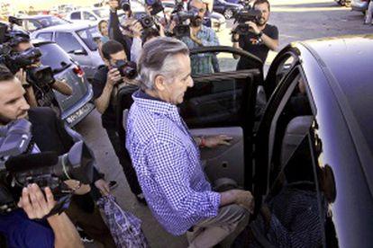Miguel Blesa tras abandonar la prisión madrileña de Soto del Real