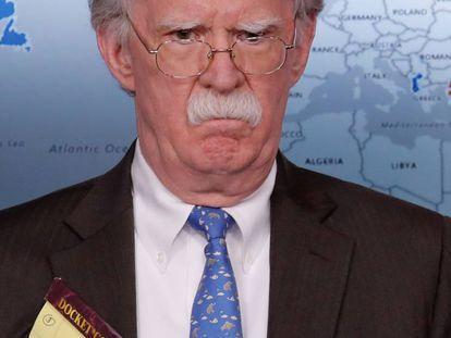 El consejero de Seguridad Nacional, John Bolton, el pasado lunes en la Casa Blanca.