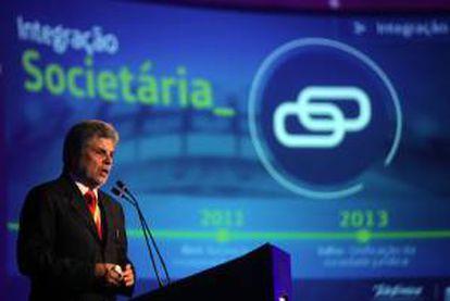 """El presidente de Telefónica Brasil, Antonio Carlos Valente, fue registrado este martes durante la décimo quinta edición de """"Futurecom"""", la mayor feria de telecomunicaciones de Latinoamérica, en Río de Janeiro (Brasil)."""