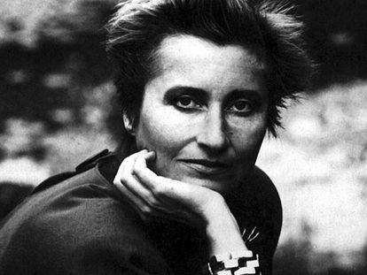 Elfriede Jelinek, a finales de los ochenta.