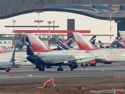 Aeronaves de la compañía Rossiya en el aeropuerto Sheremétievo de Moscú, en una imagen de archivo.