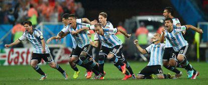 Argentina celebra su clasificación.