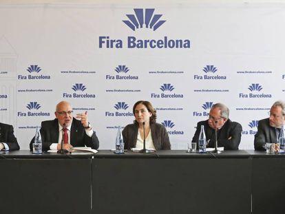 Miquel Valls; Jordi Baiget; Ada Colau; José Luis Bonet y Constanti Serrallonga.