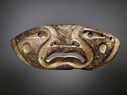 Máscara Xochipala, una de las piezas prehispánicas que subastará Christie's el próximo 9 de febrero.