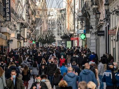 Aglomeraciones en la calle Preciados, el pasado 30 de noviembre.