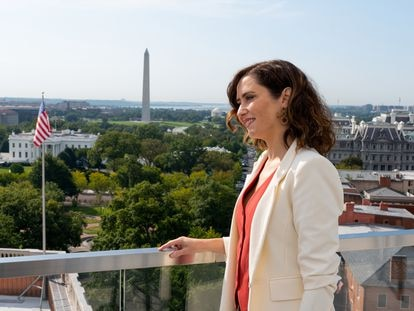 Isabel Díaz Ayuso, este martes, en Washington.