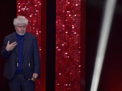 Pedro Almodóvar, en la gala de los premios Feroz.