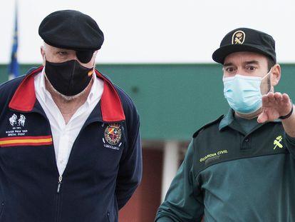 El comisario Villarejo abandona la cárcel de Estremera (Madrid) este miércoles.