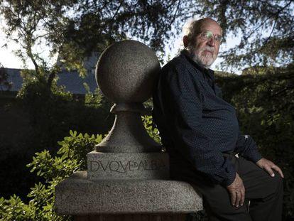 Michel Mayor, este martes en la Residencia de Estudiantes (Madrid), horas después de que le comunicaran la concesión del Nobel de Física.