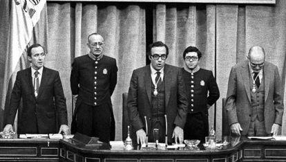 Peces-Barba toma posesión como presidente del Congreso el 18 de noviembre de 1982.