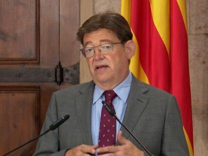 El presidente de la Generalitat, Ximo Puig, comparece en rueda de prensa.