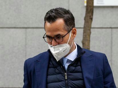 El fiscal Ignacio Stampa saliendo de la Audiencia Nacional en Madrid.