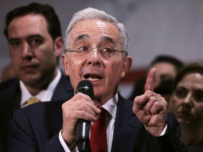El expresidente de Colombia, Álvaro Uribe, en octubre de 2019.