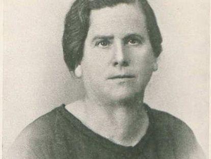 María Domínguez, la primera alcaldesa democrática de España.