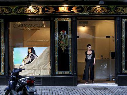 La antigua Galería Joan Prats, que conserva la fachada, ayer.