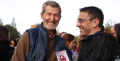 Julio Rodríguez y Juan Carlos Monedero, el 4 de mayo.