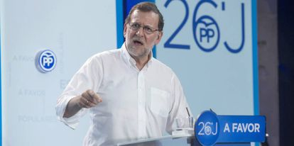 Mariano Rajoy, en un acto del PP en Murcia, el pasado sábado.
