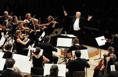 El director de orquesta Bernard Haitink , en el festival de Lucerna de 2014.