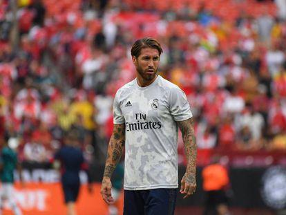 El jugador del Real Madrid Sergio Ramos.