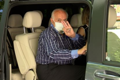 El empresario y ventrílocuo José Luis Moreno sale de los juzgados de Madrid el 4 de agosto.